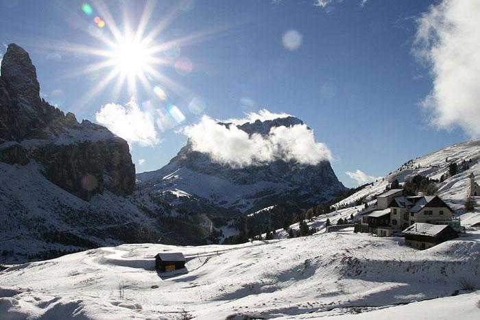 Weihnachtsbilder in den bergen